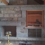 Stone fireplace, in collaboration with Gleysteen Design.