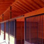 The steep pitch of the roof helps create natural ventilation