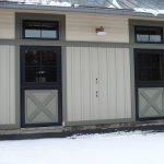 Barn at stall elevation. Dutch doors with transoms.