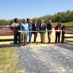 Aleco Bravo-Greenberg and Mary Bradford (director of Montgomery Parks) open the new outdoor riding rings to the public with the official ribbon cutting this past Saturday, April 27th.  The ribbon cutting was followed by a jumping demonstration by Bascule Farm and a polo match by the Capitol Polo Club.