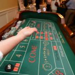 The craps table was a big hit of the evening...