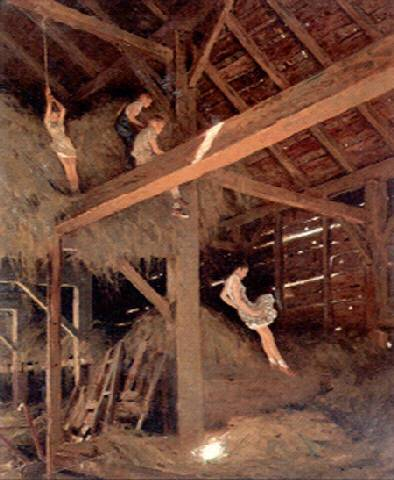 children-playing-in-hay-loft